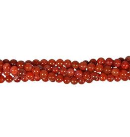 Carneool (natuurlijk) kralen rond 5,5 - 6 mm (snoer van 40 cm)