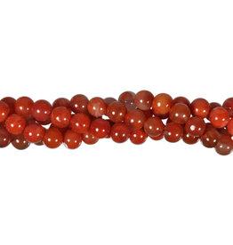 Carneool kralen (natuurlijk) rond 7 - 7,5 mm (streng van 19 cm)