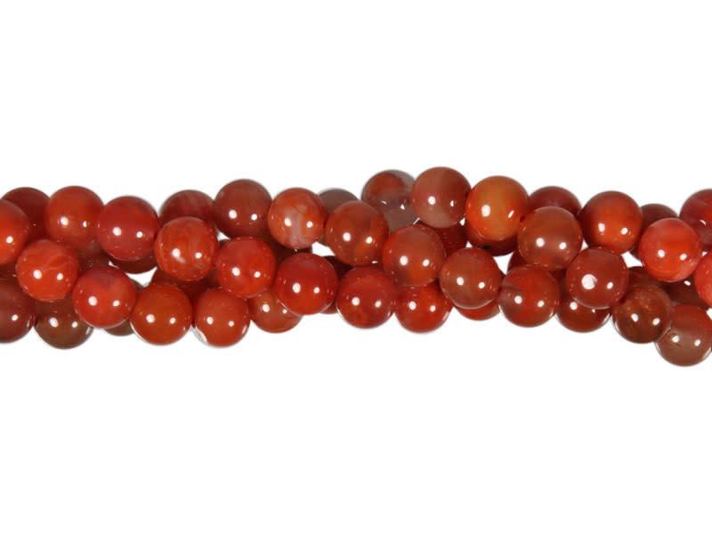 Carneool (natuurlijk) kralen rond 7 - 8 cm (streng van 40 cm)