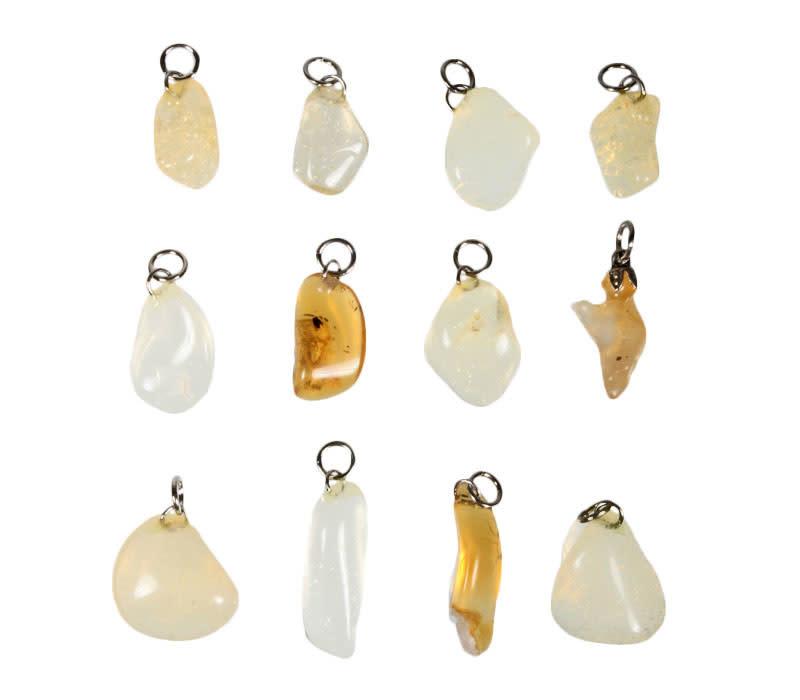 Opaal (vuur) geel hanger