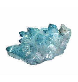 Aqua aura kwarts cluster 6,5 x 5,3 x 4 cm / 117 gram