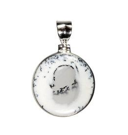 Zilveren hanger merliniet | rond 2,8 cm (1)