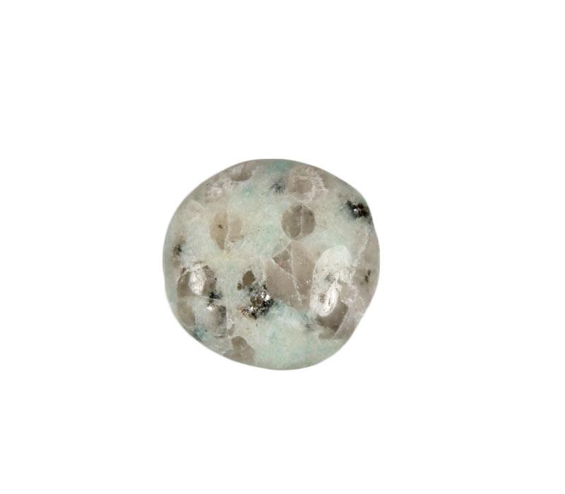 Amazoniet met toermalijn in kwarts steen getrommeld 2 - 5 gram