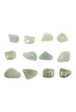 Aquamarijn (groen) steen getrommeld 1 - 2 gram