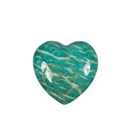 Amazoniet (Russisch) edelsteen hart 3 cm
