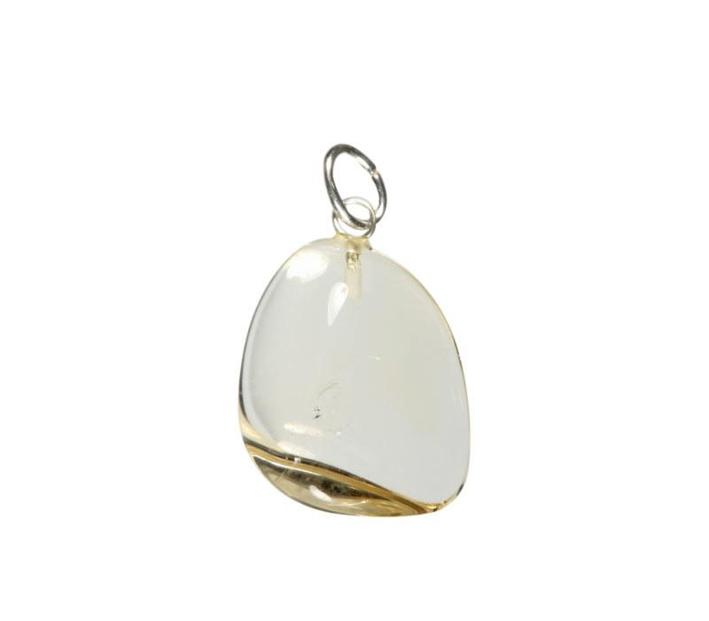 Citrien hanger A-kwaliteit met zilveren oogje