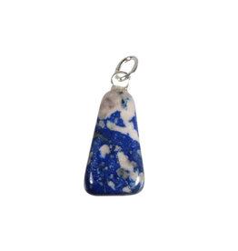 Lapis lazuli (Inca) hanger met zilveren oogje