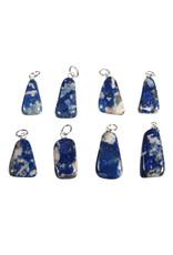 Lapis lazuli (Chileens) hanger met zilveren oogje