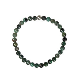 Smaragd armband 18 cm | 5 mm kralen