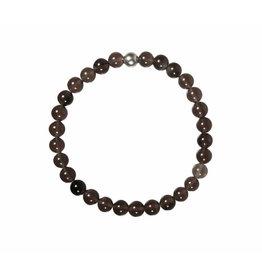 Obsidiaan (apachetranen) armband 18 cm | 6 mm kralen