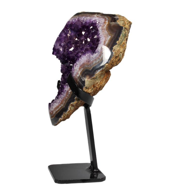 Amethist cluster 19 x 16 x 7 cm / 2150 gram | met standaard