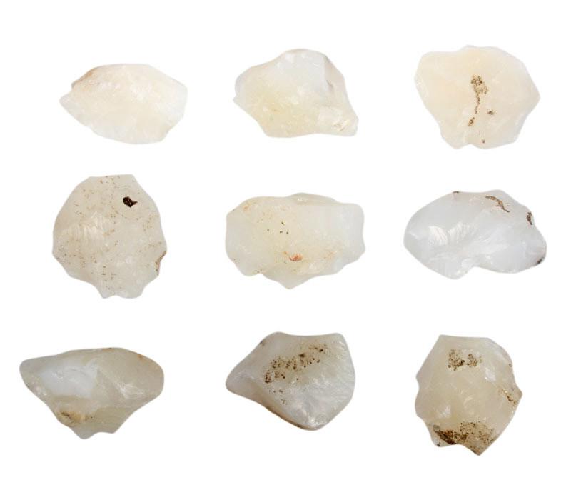 Agaat (wit) ruw 10 - 25 gram