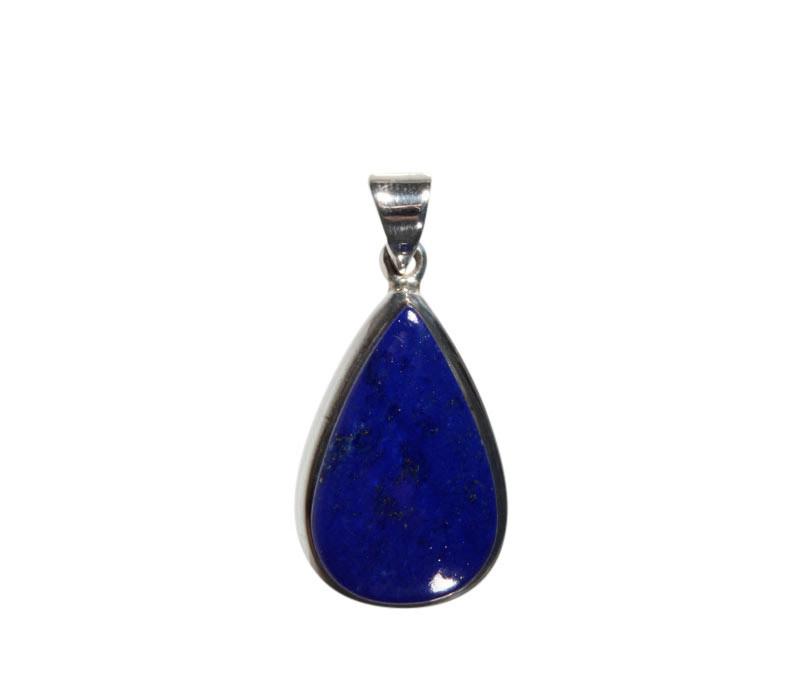 Zilveren hanger lapis lazuli | druppel 2,2 x 1,3 cm