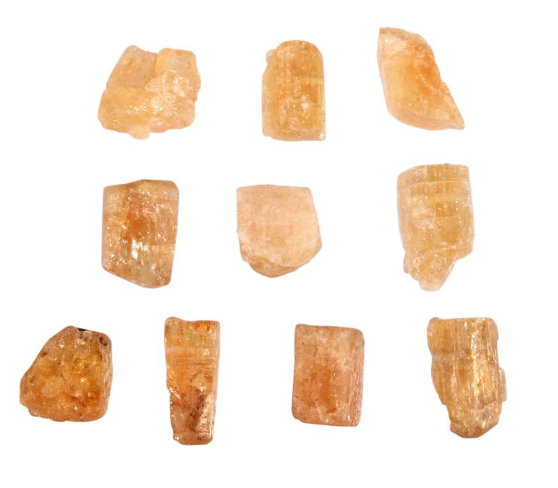 Topaas (goud of edel) hanger kristal doorboord