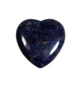 Sodaliet edelsteen hart A-kwaliteit 3 cm