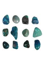 Chrysocolla steen getrommeld 5 - 10 gram