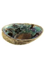Abalone schelp met bergkristal oplaad mix