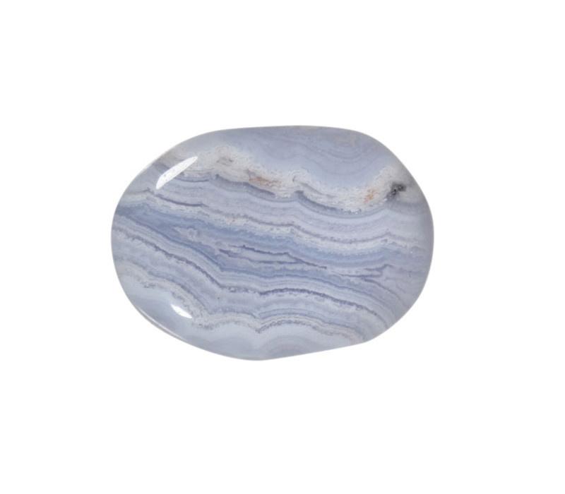 Chalcedoon (blauw) steen A-kwaliteit plat gepolijst