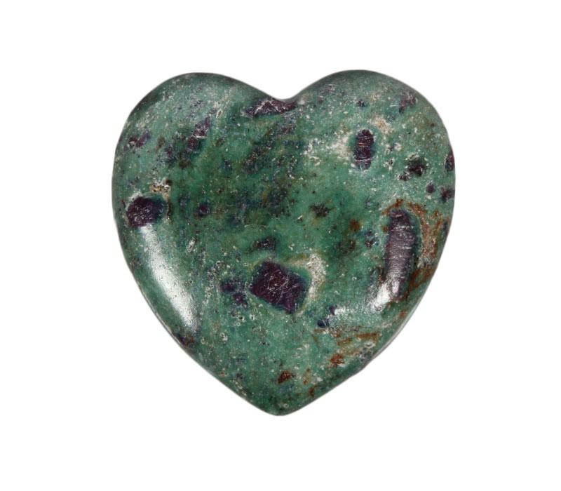 Robijn in fuchsiet edelsteen hart 4 cm - Spiritual Garden