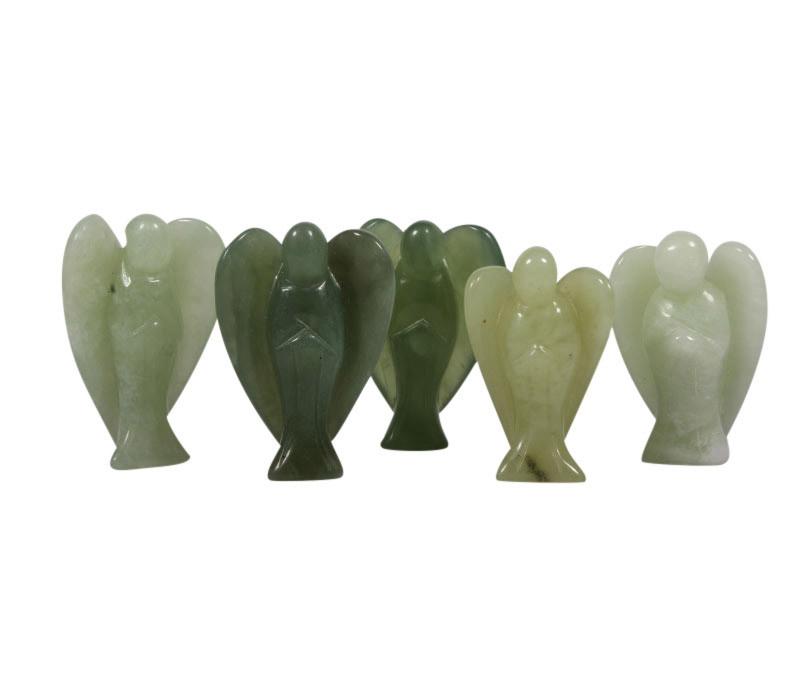 New jade (serpentijn) engel 4,5 - 5 cm