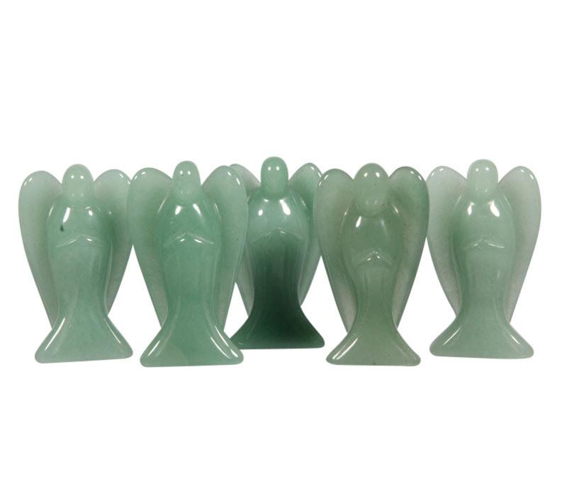 Aventurijn (groen) engel 5 cm