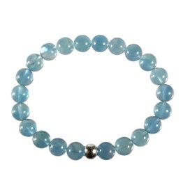 Fluoriet (blauw) armband 18 cm | 8 mm kralen