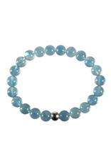 Fluoriet (blauw) armband 20 cm | 8 mm kralen