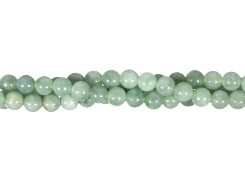 Jade (jadeiet) effen groen kralen rond 6 mm (streng van 40 cm)
