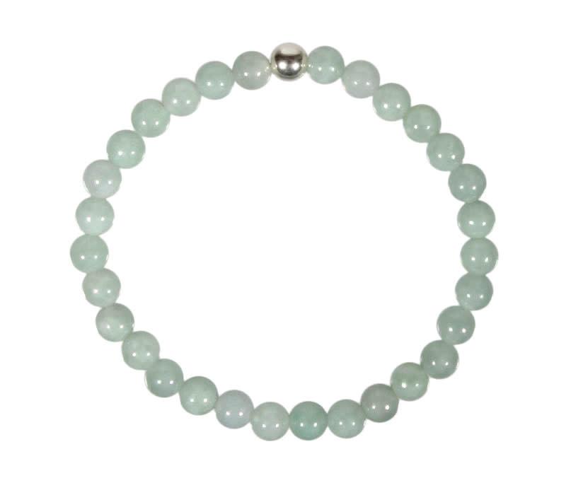 Jade (jadeiet) armband 18 cm   6 mm kralen