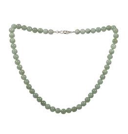 Jade (jadeiet) effen groen ketting 8 mm kralen