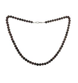Obsidiaan (apachetranen) ketting 6 mm kralen