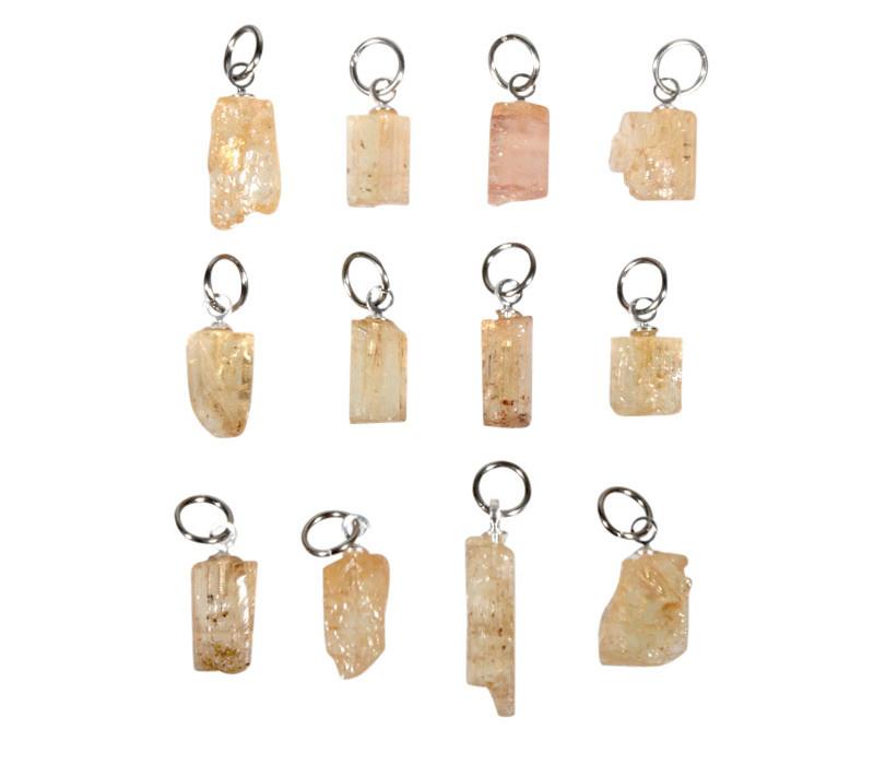 Topaas (goud of edel) hanger kristal 0,5 - 1 gram