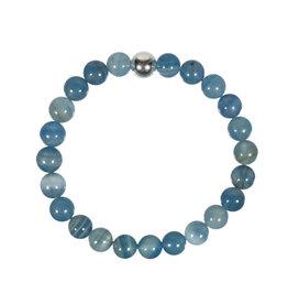 Aragoniet (blauw) armband 20 cm | 8 mm kralen