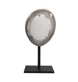 Agaat geode gepolijst 10,5 x 5,5 x 13 / 1543 gram | met standaard