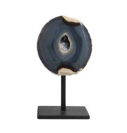 Agaat geode gepolijst 11,5 x 3,5 x 12 / 1098 gram | met standaard