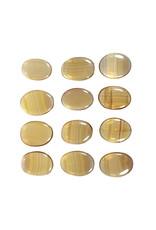 Fluoriet (geel) steen plat gepolijst