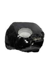 Obsidiaan (zwart) theelichthouder