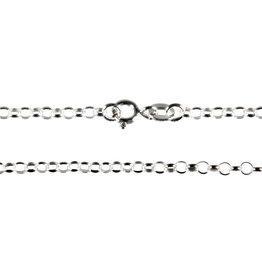 Zilveren ketting rolo 60 cm