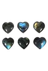Labradoriet edelsteen hart A-kwaliteit 3,5 cm