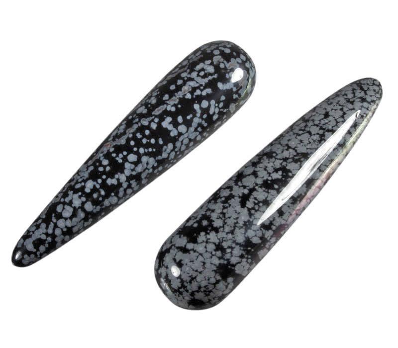 Obsidiaan (sneeuwvlok) healing stick rond