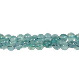 Fluoriet (groen/blauw) kralen rond 8 mm (streng van 40 cm)