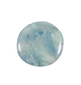 Fluoriet (groen/blauw) steen plat gepolijst