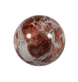 Jaspis (breccie) edelsteen bol 79 mm / 750 gram