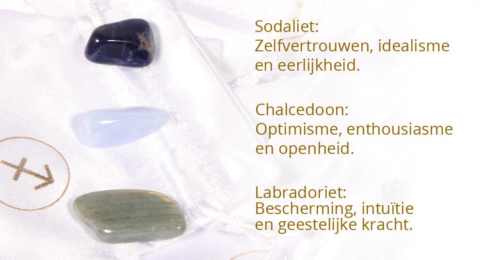 Zilveren oorbellen sterrenbeeld boogschutter 8 mm kralen