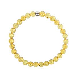 Barnsteen (geel) armband 18 cm | 6 mm kralen