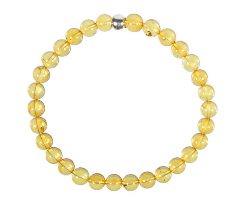 Barnsteen (geel) armband 18 cm   6 mm kralen