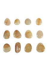 Saffier (geel) steen getrommeld 2 - 5 gram