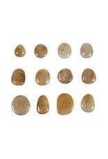 Saffier (geel) steen getrommeld 5 - 10 gram