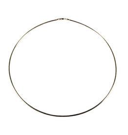 Zilveren ketting/spang met slotje 45 cm