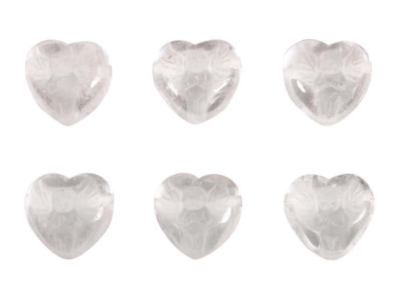 Bergkristal hanger hart engel doorboord